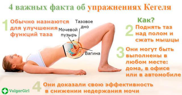 Гимнастика (зарядка) Кегеля при опущении матки, видео упражнений