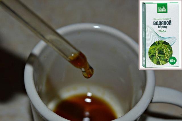 Настойка водяного перца инструкция по применению при месячных: как применять, отзывы